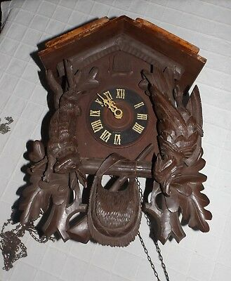 Large Vintage German Black Forest Cuckoo Clock - for spares/repairs restoration