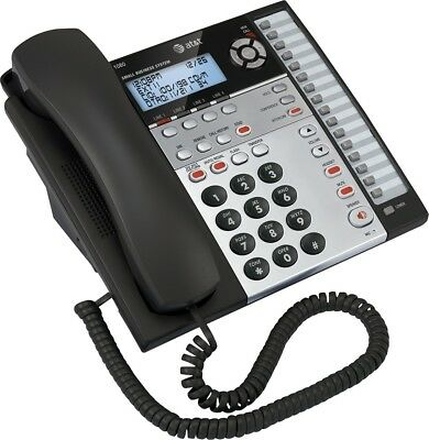 AT&T 1080 4 Line Corded Business Desk/Wall Phone w/Caller ID & Answering Machine