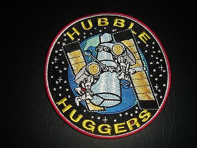 "Nos Nasa Space Shuttle Era ""hubble Hugger"" 4 Inch Sew On Patch"