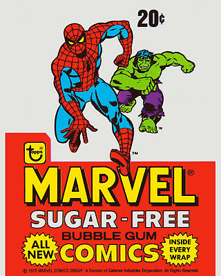 MARVEL COMICS TOPPS TRADING CARDS POSTER 8x10 Color Photo