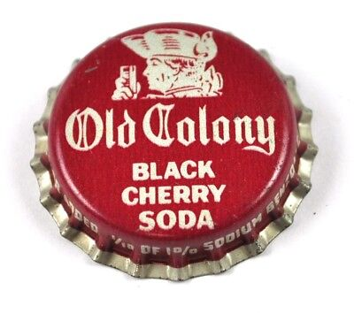 Vintage Old Colony Black Cherry Soda Kronkorken USA Bier Bottle Cap Korkdichtung