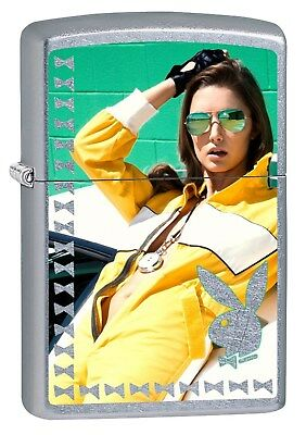 Zippo Lighter: Playboy Girl with Shades #4 - Street Chrome 77643