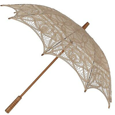 Lace Parasol With Protective Slip Case Wedding Fancy Dress Sun Parasol New 7 COL