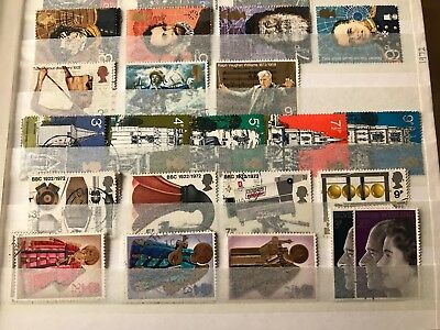 A Complete Year of Used Commemorative GB Stamps - 1972