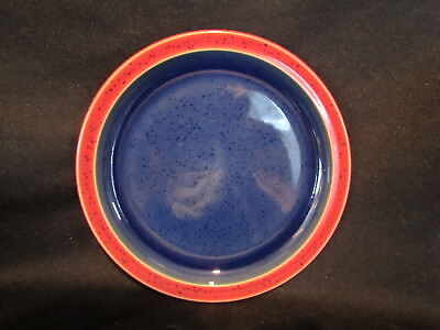 Denby HARLEQUIN - Salad Plate Red and Blue - BRAND NEW