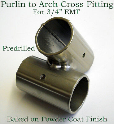 """Greenhouse Fitting Purlin to Arch Connector for 3/4"""" EMT  [10 PACK]"""