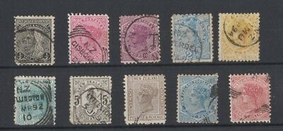 New Zealand 1882 QV 1882 second sideface mixed condition toning sale