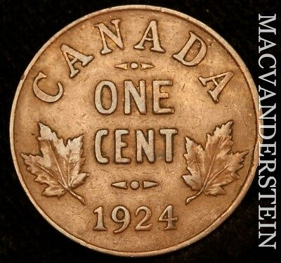 Canada: 1924 One Cent- Semi-Key !! Better Date !! #w8734