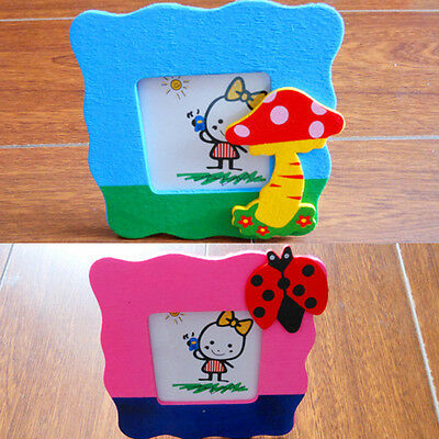 One Wooden Toy Cartoon Children Mini Small Photo Frame Baby Picture Show AU