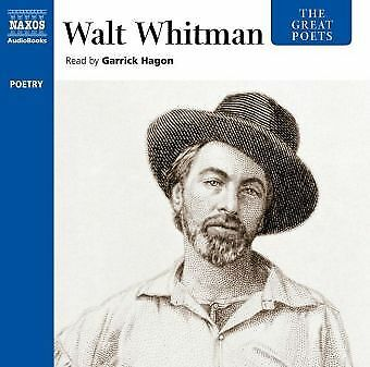 Garrick Hagon - The Great Poets: Walt Whitman CD Naxos Audi NEW