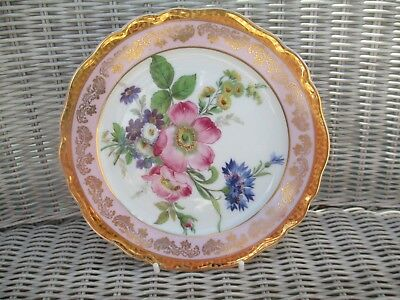 Absolutely Gorgeous Limoges Plate - Floral Detail - Lots Of Gold And Pink Colour