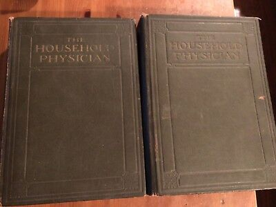 The Household Physician Antique 1905 Medical Books Volumes I & 2 A.T. Lovering