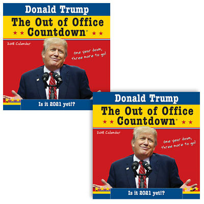NEW (Set/2) Donald Trump Out Of Office 2018 Countdown Calendar Photos & Quotes