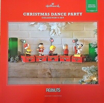 2017 Hallmark Peanuts Christmas Dance Party Collector's Set SPECIAL Edition- New