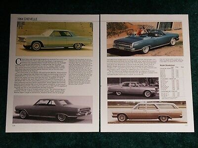 RARE CHEVELLE 300 - Brochure Specs Sheet Info Car Automobile Parts