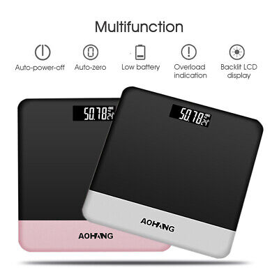 190kg/400lb Electronic LCD Digital Bathroom Weighing Scale Body Fat Weight Glass