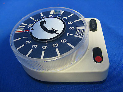 Seltene 70´s Design Telefon Uhr / Timer Made in Germany in working condition