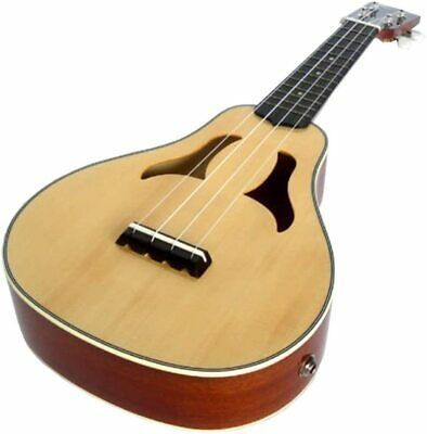 Clearwater High Gloss Soprano Ukulele  Vita Electro Acoustic Solid Top