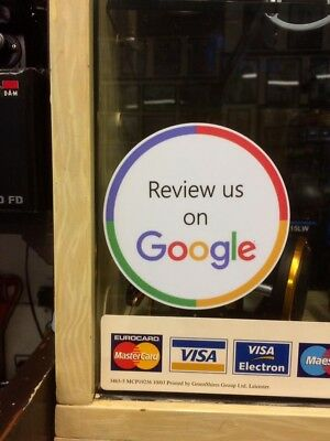 3 x Review Us On Google Stickers - Shop - Business - Taxi - Google Review