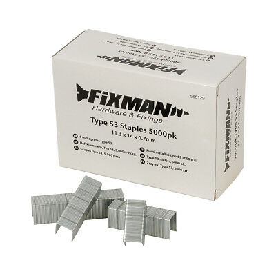 Fixman 14mm Type 53 Staples 5000pk 11.25 x 14 x 0.75mm