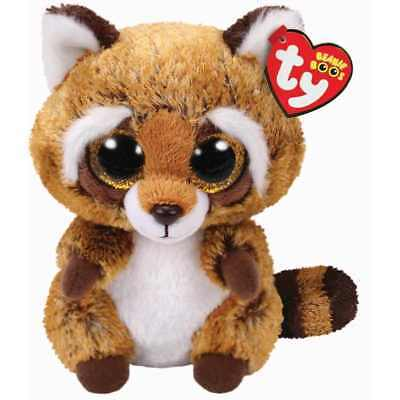 Ty Beanie Babies Boos Rusty Raccoon Plush Soft Toy New With Tags