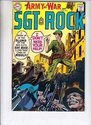Our Army at War # 214 strict FN/VF+ artist Russ Heath