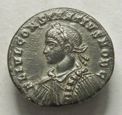 Constantius Ii Ae 3 Trier Mint With Old Collection Ticket (288C)