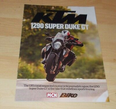 KTM 1290 Super Duke GT Test Reports Brochure 2016