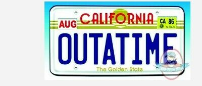 Bttf Back To The Future Outatime Plate License Plate Diamond Select