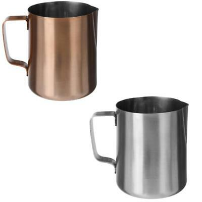 Steel or Copper Finish 500ml Cappuccino Latte Milk Frothing Jug Pitcher