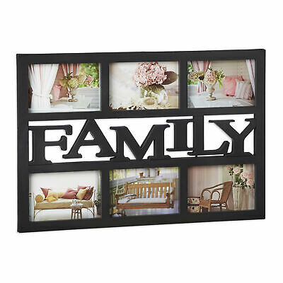 family bilderrahmen f r 5 bilder in 10x15 cm 13x18 cm foto collage galerie eur 18 99 picclick de. Black Bedroom Furniture Sets. Home Design Ideas