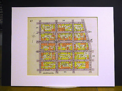 Brooklyn Map 1929 Matted MANHATTAN AINSLIE BUSHWICK STAGG MAUJER POWERS HUMBOLDT