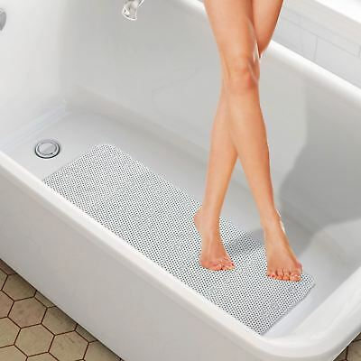 Extra Long Pvc Soft Cushioned Anti Non Slip With Suction Cups Bath Shower Mat