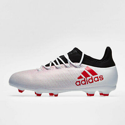 7a11a9bc243a adidas X 17.1 Firm Ground Kids Football Boots Studs Trainers Sports Shoes  Grey