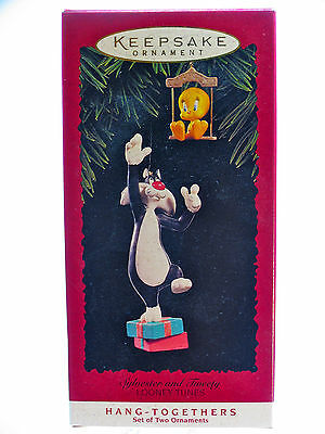 Sylvester Tweety Christmas Ornament Hallmark Keepsake Hang Togethers