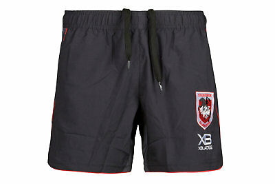 X Blades Mens St George Illawarra Dragons NRL 2018 Rugby Training Shorts Grey