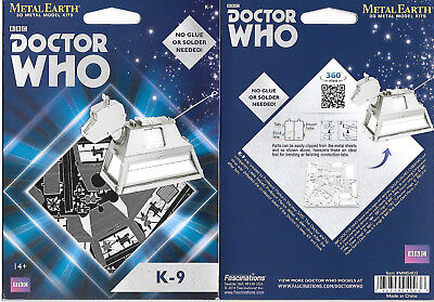 Doctor Who TV Series K-9 Robot Figure Metal Earth Steel Model Kit NEW SEALED