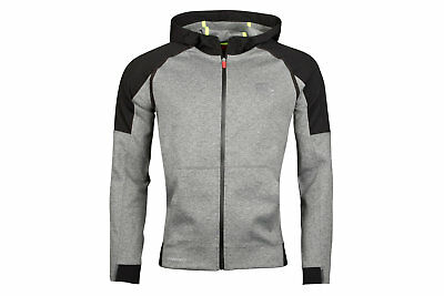 Canterbury Mens Vaposhield Full Zip Hooded Rugby Sweat Grey Top Sports Training