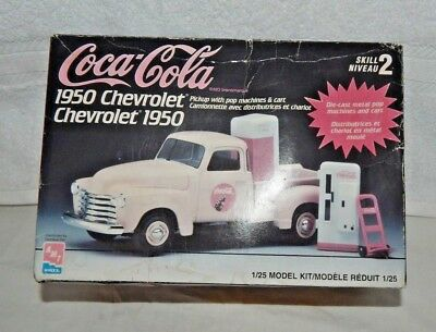AMT 1950 CHEVROLET COCA-COLA PICK-UP MODEL KITw Die Cast Pop Machines 1997