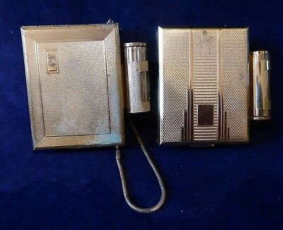 2 vintage KIGU combined compacts / lipstick & cigarette cases ##WBR66BS