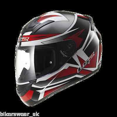 LS2 FF352 Rookie Gamma Red Full Face Motorcycle Scooter motorbike- Cheap Helmet