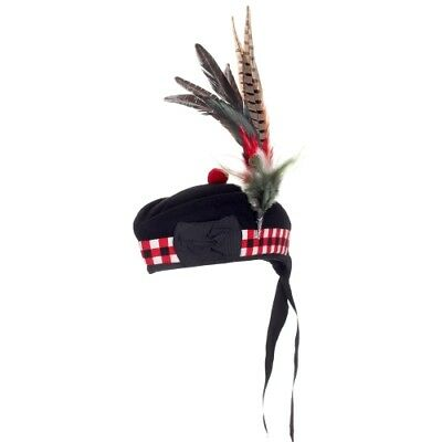 New Feather Plume for Traditional Scottish Glengarry Balmoral Hat  Aprx 14in