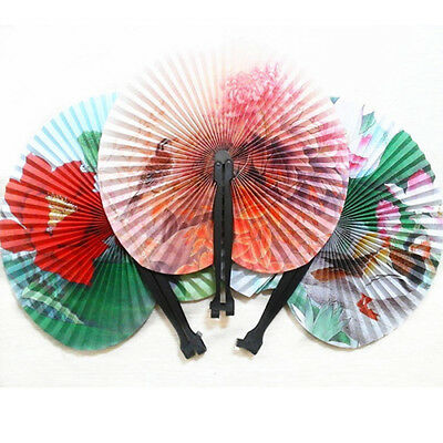 3Pcs Foldable Chinese Oriental Floral Paper Hand Fans Party Table Favors Utility