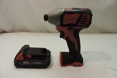 Milwaukee M18 1/4 Hex Impact Driver W/m18 Red Lithium Battery# 2656-20 ^^