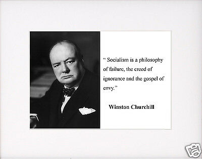 """Winston Churchill /""""have enemies/"""" Autograph Quote Black Matted Photo Picture #s1"""