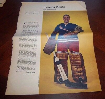 Jacques Plante # 4 issue Weekend Magazine Photos 1963 -1964 Toronto Star  # 2