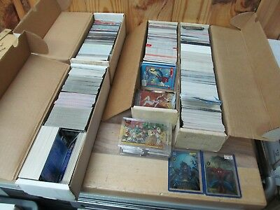 Over 10 lbs of Mixed Comic Cards Nonsport Marvel DC Bulk Lot Collection