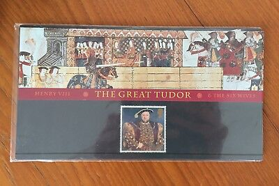 The Great tudor King Henry VIII stamp, 450th ann. death of Henry, 1997, GB, MNH