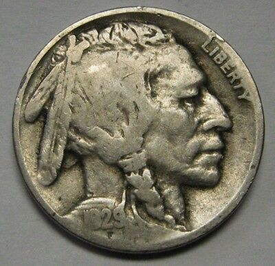 1929-D Buffalo Nickel in the GOOD Range Nice Original Coins DUTCH AUCTION