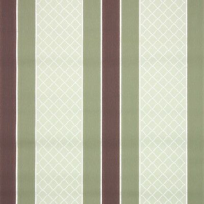 1940s Stripe Vintage Wallpaper Green And Brown Stripes